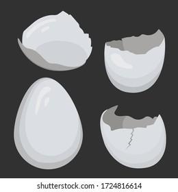 Vector illustration of egg and broken egg
