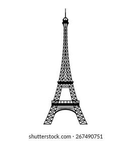 Vector illustration of Eiffel tower in Paris