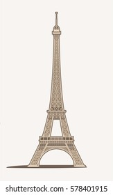 Vector Illustration of the Eiffel Tower in Paris