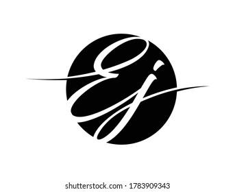 A vector illustration of EJ monogram initial letter logo