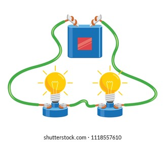 Vector Illustration Of Electric Circuit