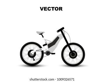 Vector illustration electric ecology bike