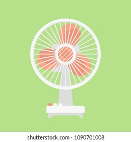 Vector Illustration Electric Fan. Icon Wind Cooler