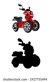 vector illustration of an electric scooter