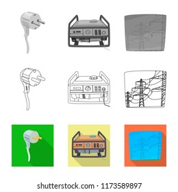 diesel generator icon icon png vector illustration of electricity and electric icon set energy stock symbol for diesel generator icon images stock photos vectors shutterstock