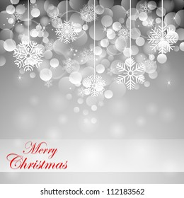 vector illustration of elegant christmas background with snowflakes