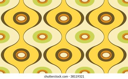 Vector illustration of elegant geometric retro motif wallpaper seamless Pattern