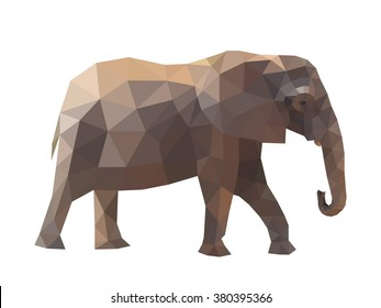 Vector illustration elephant.