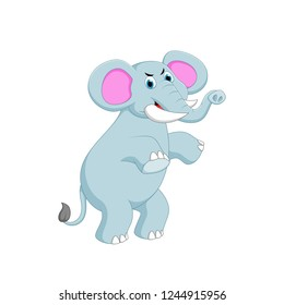 vector illustration of elephant cartoon