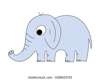 vector illustration of an elephant on a white background