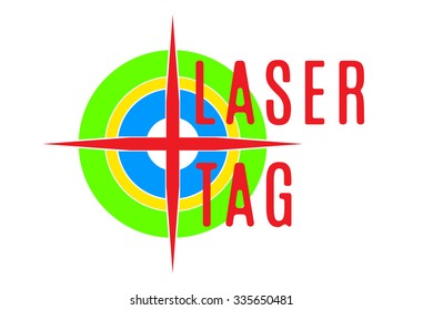 Vector illustration - emblem of laser tag