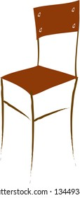 Vector illustration of an empty chair