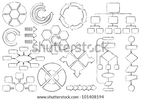 Vector Illustration Empty Flow Chart Diagram Stock Vector Royalty
