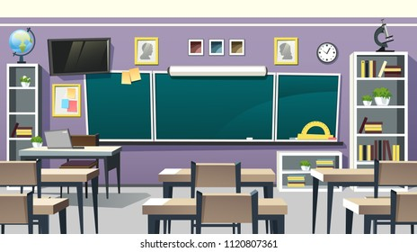 Photo Studio Accessories Motivated Back To School Backdrop Classroom Blackboard Clock Desk Chair Vintage Wood Floor Interior Photography Background