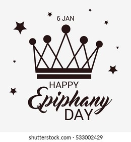 Vector illustration of a Epiphany background with crown for christian holiday.