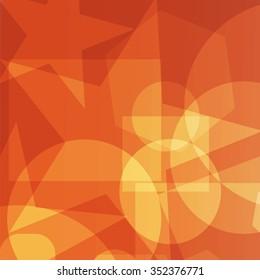 vector illustration EPS10.Bright background of simple geometric figures.Color:orange