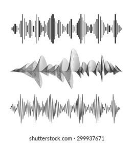 Vector illustration eqalizer set black and white