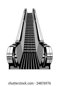 vector illustration of an escalator
