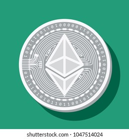 Vector illustration etherium