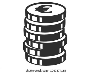 Vector illustration of the Euro Coin