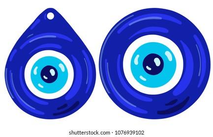Vector illustration of evil eye - Turkish amulet
