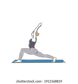Vector illustration of an example image of a yoga position by woman
