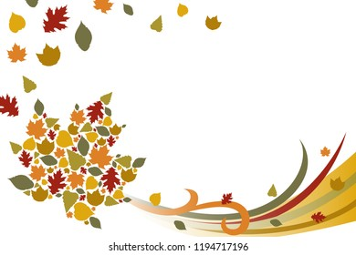A vector illustration of Fall Autumn Background
