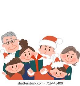 vector illustration of a family having a good Christmas