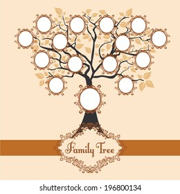 Vector illustration family tree