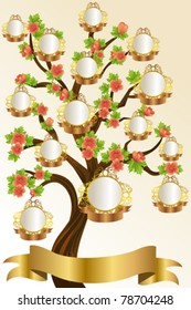 A vector illustration of a family tree template