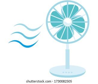 Vector illustration of a fan,  Electric fan icon