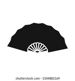 Vector illustration of fan and oriental symbol. Web element of fan and cool stock vector illustration.