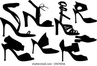 Vector Illustration of fashion women shoes vector