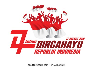 vector illustration. the feast of the August 17 Independence Day of Indonesia. dirgahayu republik indonesia