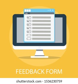Vector illustration of feedback & survey concept with