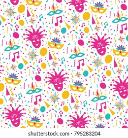 vector illustration. festive carnivals in Brazil and Mardi Gras in Venice. vector background pattern of colorful festive elements.