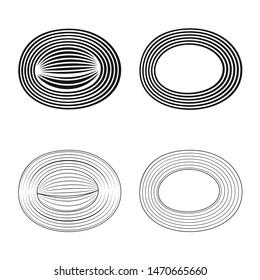 Vector illustration of fiber and muscular symbol. Collection of fiber and body vector icon for stock.