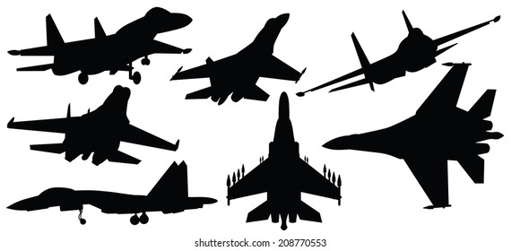 vector illustration of fighter jet,war plane