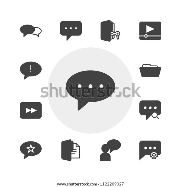 Vector Illustration Fill Icons Chat Messenger Stock Vector