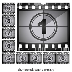 vector illustration of film countdown