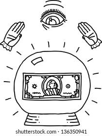 Vector illustration of financial prediction