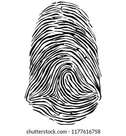 Vector illustration of fingerprint.