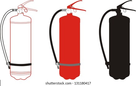 vector illustration of fire extinguisher