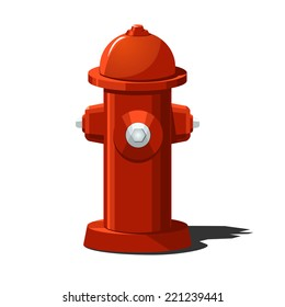 Vector illustration of fire hydrant. Solid fill only.