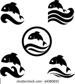 Vector illustration of a fish. Company logo design.