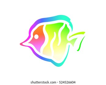 Vector illustration of fish icon for your design