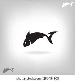 Vector illustration of a fish. Logo design for the company.