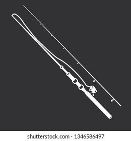 Vector illustration of fishing rod for fishing