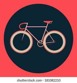 vector illustration fixed gear bicycle (fixie)