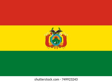 Vector Illustration Flag of Bolivia for continue.